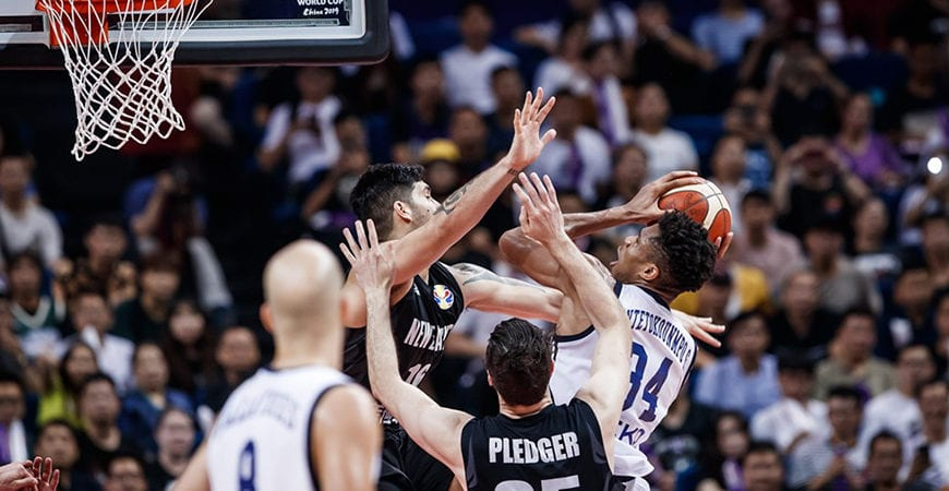 TALL BLACKS EMPTY THE TANK IN DEFEAT TO GREECE   Basketball